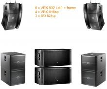 VRX set 3 12000W Powered